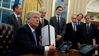 Download President Trump signs 3 executive orders, withdraws US from TPP Video