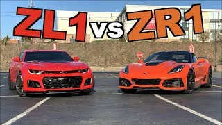 Download 2019 Corvette ZR1 vs 2017 Camaro ZL1!! (Roll Race) Video