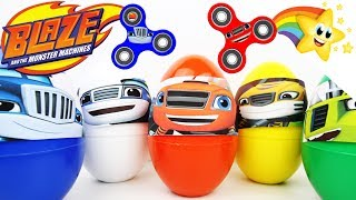Download BLAZE and the Monster Machines Giant SURPRISE EGGS ⭐FIDGET SPINNERS ⭐ Learn Colors Kids Video Video