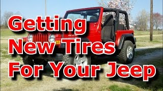 Download Getting Different Tires For Your First Jeep Wrangler Video