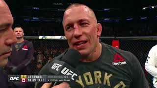 Download UFC 217: Georges St-Pierre and Michael Bisping Octagon Interviews Video