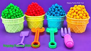 Download Play Doh Dippin Dots Ice Cream Cups Surprise Eggs Fun for Kids Video