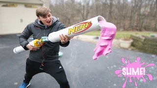 Download NERF SLIME CANNON - how to make glitter slime (diy slime easy) Video