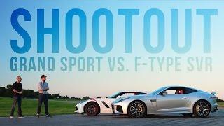 Download The Chevrolet Corvette Grand Sport takes on the Jaguar F-Type SVR Video