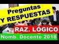 Download RESPUESTAS RAZONAMIENTO LÓGICO| NOMBRAMIENTO DOCENTE 2018 Video