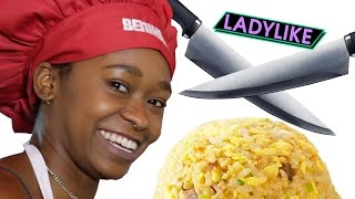 Download Women Try Benihana Food Tricks • Ladylike Video