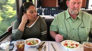 Download Amtrak Texas Eagle Dining Car Tour & Menu Review - First Class Train Travel - Food Not Amtrack Acela Video
