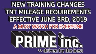 Download NEW Training Requirements - Prime Inc. (A Must Watch) Video