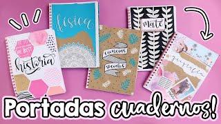 Download 5 PORTADAS para cuadernos! Regreso a clases!! ✄ Barbs Arenas Art! Video