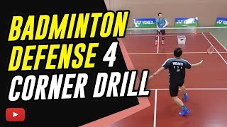 Download Badminton Defense 4 Corner Drill (Pattern or Random) - Coach Kowi Chandra Video