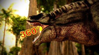 Download 360 Degree Jurassic Dinosaur Park CGI Movie - ″A T-Rex Named June″ Google Cardboard VR Video