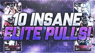 Download WOW! 10 AMAZING ELITE PULLS! INSANE MADDEN MOBILE 18 PACK LUCK! Video