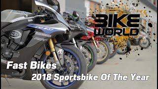 Download Fast Bikes Sportsbike of 2018 shootout Video
