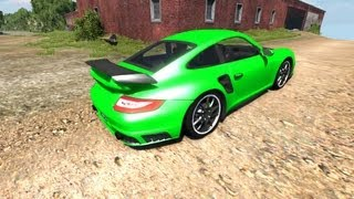 Download BeamNG Drive Porsche 911 GT2 v4.1 Crash Testing #29 Video