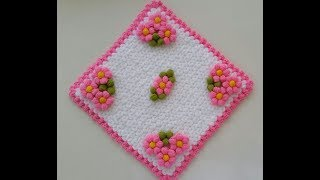 Download Puf Çiçekli Kare Lif Yapımı Video