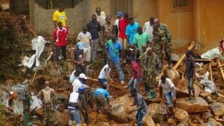 Download Massive mudslides bring devastation to Sierra Leone Video