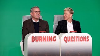 Download Steve Carell Answers Ellen's 'Burning Questions' Video