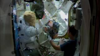 Download Preparing for a spacewalk Video