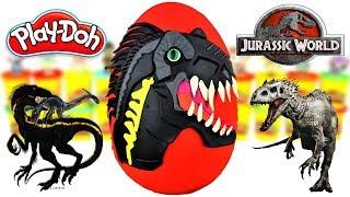 Download Huevo Sorpresa Gigante de Indoraptor de Jurassic World 2 el Reino Caido Plastilina Play doh Español Video