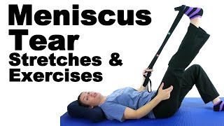 Download Meniscus Tear Stretches & Exercises - Ask Doctor Jo Video