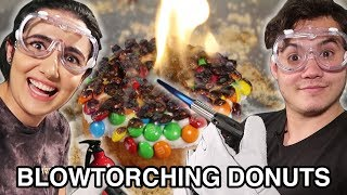 Download We Tried Blowtorching Donuts (Homemade & Store-Bought) Video