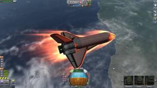 Download Reentry in a shuttle in KSP Video