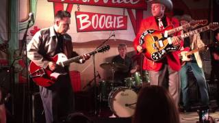 Download Deke Dickerson backed by The Reverend Horton Heat with surprise guests at Nashville Boogie 2016 Video