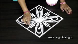Download Simple cute freehand kolam    easy rangoli designs    new muggulu with out dots    latest patterns Video