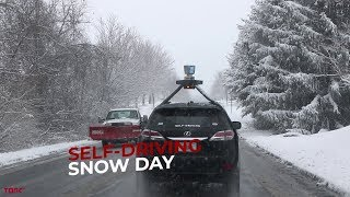 Download Torc Self-Driving Car Navigates in the Snow Video