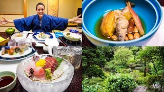 Download LUXURY JAPANESE FOOD - Multi-course Kaiseki at Traditional Onsen Hotel in Hakone, Japan! Video