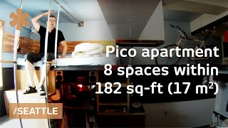 Download DIY-crafted Seattle micro apartment: 8 spaces stacked in 182 sq ft Video