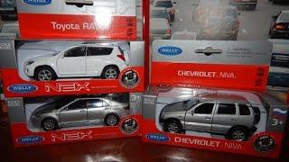 Download машинки cars WELLY TOYOTA CAMRY TOYOTA RAV 4 LADA NIVA Video