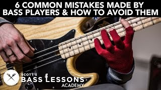 Download 6 Common Mistakes Made by Bass Players and How to Avoid Them /// Scott's Bass Lessons Video