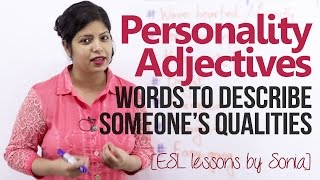 Download Personality Adjectives - Words to describe someone's qualities (Beginner English Lesson) Video
