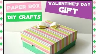 Download How to make an Easy Paper Box - DIY Paper crafts for teenagers - Birthday Gift Ideas Video