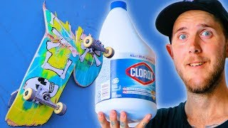Download WE BLEACHED A SKATEBOARD FOR 24 HOURS! | SKATE EXPERIMENTS EP. 6 Video
