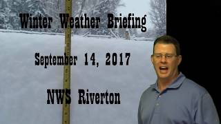 Download Winter Weather Briefing - September 14, 2017 5 am Video