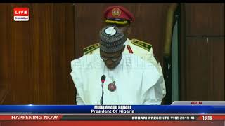 Download President Buhari Presents 2019 Appropriation Bill To NASS Pt.1 |Live Event| Video