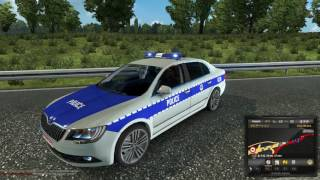 Download ETS2MP Admin Police blockade the junction. Video