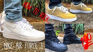 Download How to WEAR Nike Air Force 1's Video