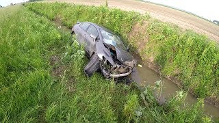 Download HIT AND SPIN HONDA ACCIDENT CRASH AND SPLASH Video