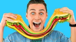 Download Съедобные лизуны против обычной еды! Челлендж – 7 идей Video