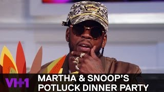 Download 2 Chainz, Naya Rivera, & Chris Bosh Play Dinner Table Games | Martha & Snoop's Potluck Dinner Party Video
