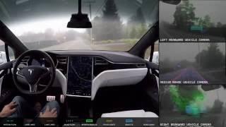 Download Tesla Autopilot 2.0 Full Self Driving Hardware - Neighborhood Long (Slowed Down 4x) Video