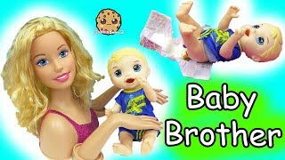 Download Barbie Baby Brother- Babysitting Baby Alive Boy Feed, Changing Poop Diaper, Video
