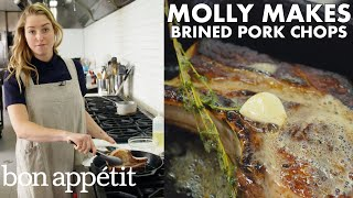 Download Molly Makes Pan-Roasted Brined Pork Chops | From the Test Kitchen | Bon Appétit Video