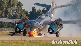Download A-26 Invader Nose Gear Collapse On Landing Video