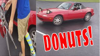 Download Crashed Z125, Broken Ankle, and Still Doing Donuts Video