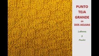 Download Como tejer el punto teja grande en dos agujas Video