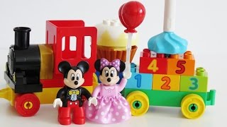 Download Learn colors numbers Lego Duplo Minnie Mickey Birthday Parade toy train Video